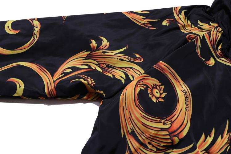 2014新款美式潮牌supreme凤凰印花插肩袖 拉链连帽 男装风衣外套